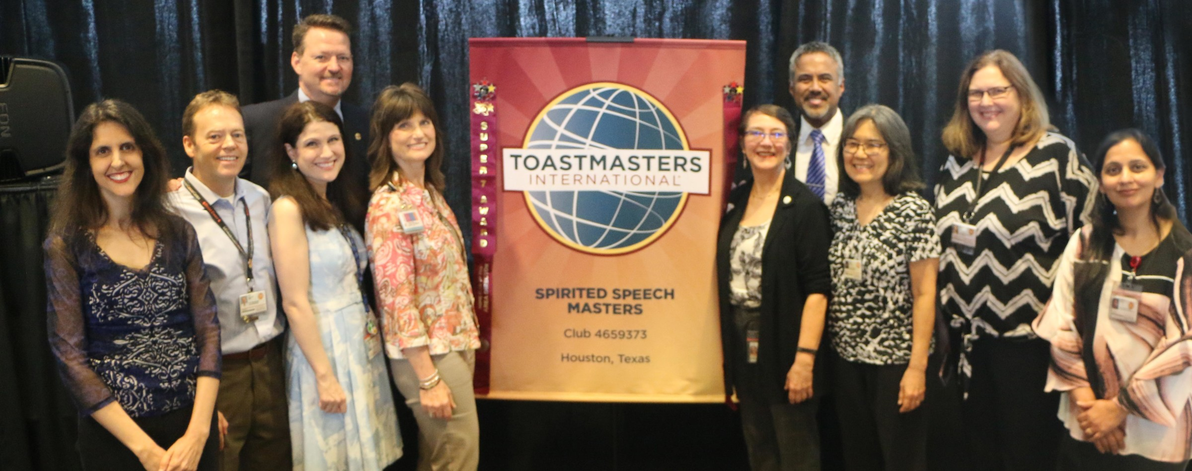 Spirited Speech Masters and Dan Rex honoring MD Anderson and Shibu Varghese