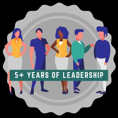 5+ Years of Leadership